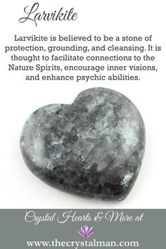 Larvikite ~ Protection-Grounding-Cleansing-Nature Spirits-Inner Visions-Psychic Abilities You can shop thousands of crystals online any time at The Crystal Man! Crystal Guide, Crystal Magic, Crystal Healing Stones, Stones And Crystals, Crystal Shop, Gem Stones, Minerals And Gemstones, Crystals Minerals, Rocks And Minerals