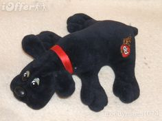 """Pound Puppies!! Mine was black like this and I was proud for knowing the word """"Ebony"""" to name her - a name and the right colour."""