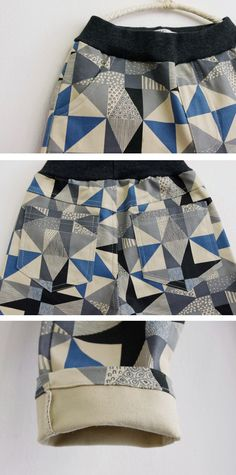 Geometric Pants for boys 2-7.Cool kids fashion at Color Me WHIMSY this fall.