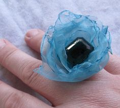 FAIR AQUA  water and sky coctail ring by TackledAndShackled, $14.00
