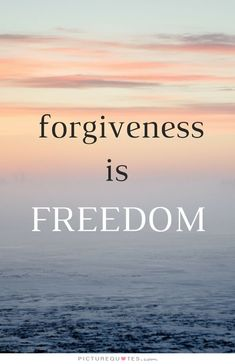 Forgiveness is freedom. Picture Quotes.