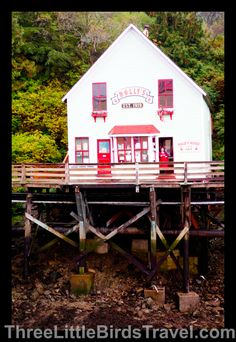 Dolly's House - Ketchikan, Alaska! It's the house of a famous madam during the Gold Rush that's now been turned into a museum. Visit the museum for only $5!