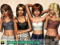 Street Style Crop Top by Black Lily • Sims 3 Downloads CC Caboodle