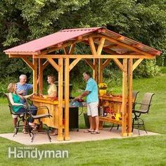 Grillzebo: A sheltered space similar to a gazebo but designed for grilling. A grill gazebo is the perfect place to cook the perfect steak, rain or shine, and it makes a great outdoor bar, too.