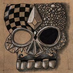 #zentangle #art #doodle #ink #skull