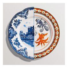 Grande assiette Isaura collection Hybrid de Seletti