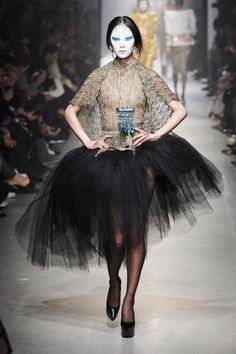 Vivienne Westwood Fall 2013 Runway Look 39 - Lyst Punk Rock Fashion, High Fashion, Fashion Show, Womens Fashion, Fashion Design, Vivienne Westwood, Black Tutu, English Fashion, Tulle Tutu