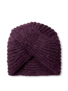 Kate Spade Saturday Women's Knit Turban, Plum