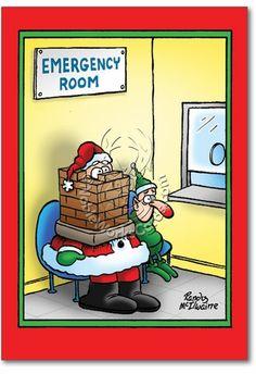 Santa Stuck Card
