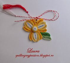 quilling my passion: martisoare flori Quilling Flowers, Paper Quilling, Quilling Cards, Quilling Jewelry, Crochet Necklace, Projects To Try, Passion, Diy Crafts, Bows