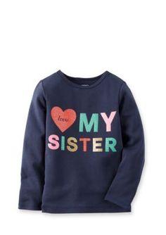 Carters  Printed Love My Sister Tee
