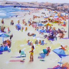 "Daily Paintworks - ""The Beach"" - Original Fine Art for Sale - © Jo MacKenzie"