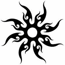 Tribal sun tattoo design  this one has been on my mind for years!