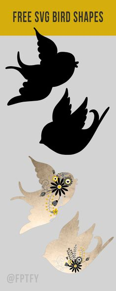 Free SVG Bird Shapes