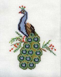 Cross Stitch Bird, Cross Stitch Animals, Cross Stitch Flowers, Cross Stitch Charts, Cross Stitch Designs, Cross Stitching, Cross Stitch Patterns, Folk Embroidery, Cross Stitch Embroidery