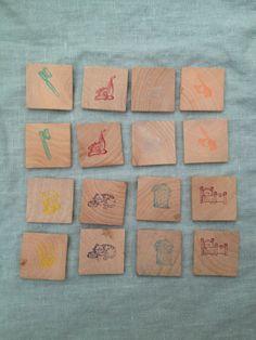 Montessori / Waldorf  Chores Matching Game, wooden toy, color matching, matching game, game