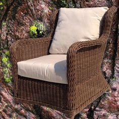 #outdoor #brown #wicker #chair brand #new #furniture via @Wicker Paradise - @socialwicker