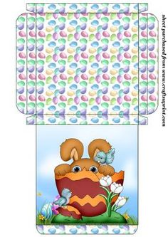 Easter bunny card box 5 on Craftsuprint designed by Stephen Poore -