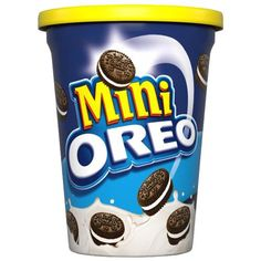 Small Oreo cookies in a small tub Kraft Foods, Oreos, Sandwiches, Small Tub, Mini Oreo, Fanta Can, Oreo Cookies, Toffee, Canning