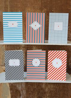 pattern papier tigre motifs rayées stripped cards cartes pack