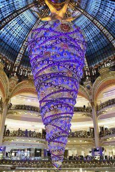 Noël grand magasin à Paris