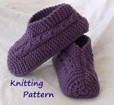 knitted slipper pattern