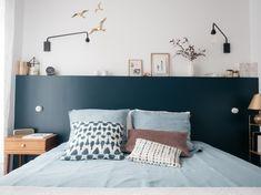 Minimalist home, dream bedroom, blue bedroom, bedroom decor, bedroom wa Blue Bedroom, Trendy Bedroom, Bedroom Wall, Bedroom Furniture, Dream Bedroom, Furniture Ideas, Master Bedroom, Best Bedroom Paint Colors, Romantic Bedroom Decor