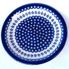 "Ceramic Stoneware Blue and White-10.75"" DinnerPlate"