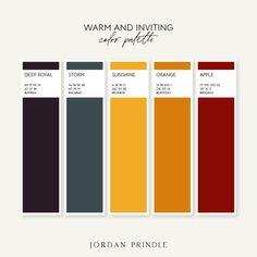 36 Colors Palettes Organized by Mood — Jordan Prindle Designs Colour Pallette, Color Palate, Colour Schemes, Pantone Colour Palettes, Pantone Color, Palette Design, Palette Organizer, Sunflower Colors, Theme Color
