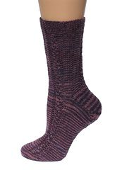 Ravelry: Tri-Corner Cable Sock pattern by Steph Michaud