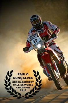 Paulo Gonçalves   Campeão do Mundo de Ralis Todo-o-Terreno 2013   Cross-Country Rallies World Champion 2013   Team Honda HRC Speedbrain #Portugal