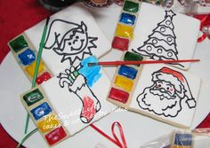 Paintable Christmas Cookies - by TheSweetLife cakes & cookies by Julie, Julie Tenlen @ CakesDecor.com - cake decorating website