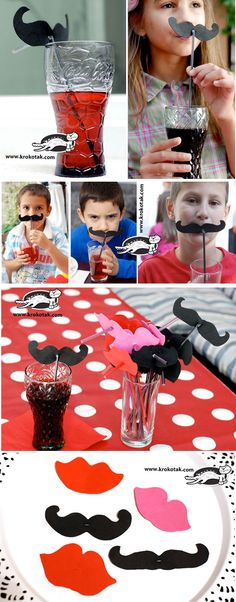 To wear moustaches at a party:)