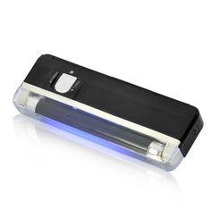 Linterna portátil con tubo UV horizontal y luz LED blanca