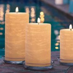 GloLite Pillar candles by PartyLite