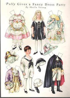 1921 Polly Pratt Paper Doll Gives A Fancy Dress Party