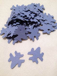72 Light Blue Fighter Jets Die Cuts by MonAmiePaperie on Etsy, $2.44