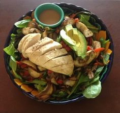ROASTED VEGETABLE SALAD WITH CHICKEN