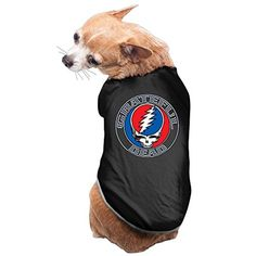 Dog Clothing Grateful Dead Steal Your Face Dog Costume Sleeveless Pet Apparel -- Awesome products selected by Anna Churchill