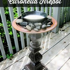 Upcycle A Thrift Store Lamp Into A Citronella Firepot!