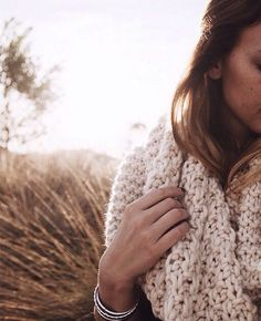 Knitted scarf for this winter.
