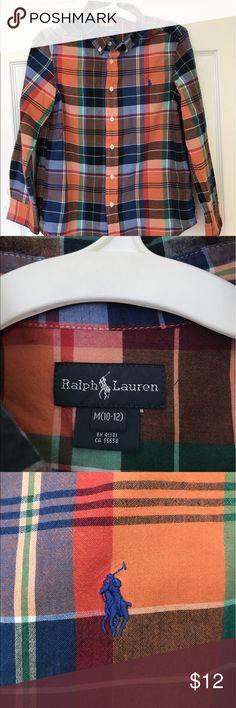 Ralph Lauren boy's shirt, size M 10-12 Great Deal! Ralph Lauren boy's life ng sleeves shirt, size M 10-12. In very excellent condition, no damage. Offers discount for bundle Ralph Lauren Shirts & Tops Button Down Shirts