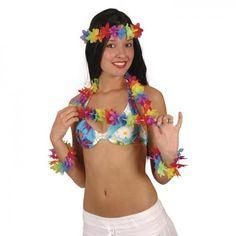 Bastrock natur kurz Hawaii Fasching Kostüm Zubehör Hawaiirock Karibik Südsee