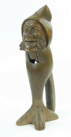 Black Forest nutcracker modelled as a man's head, 8.5''