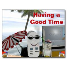 Having a Good Time Post Card artwork by Peter Grayson