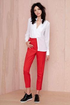 Nasty Gal Walk the Line Trousers | Shop Pants at Nasty Gal