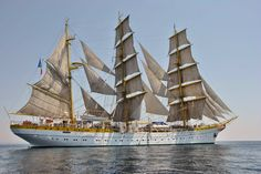 Mircea Barque in the winds (Romanian navy's school training ship) Nautical Terms, Port Royal, Remo, Wooden Ship, Sail Away, Tall Ships, Sailing Ships, Gabriel, Mario