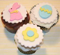 Fondant cupcake Topper Easter Spring. $16.95, via Etsy.