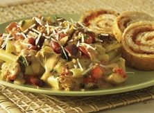 Sausage and Artichoke Bolognese with Sun-Dried Tomato Bread - Publix Aprons Simple Meals Veggie Recipes, Vegetarian Recipes, Chicken Recipes, Cooking Recipes, Cooking Tips, Sun Dried Tomato Bread, Publix Aprons Recipes, Easy Meals, Simple Meals