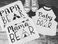 Family Bear Shirts by LondonLabelDesign on Etsy